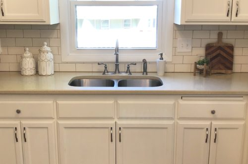 DIY Kitchen Renovation Painting Cabinets, Before and After