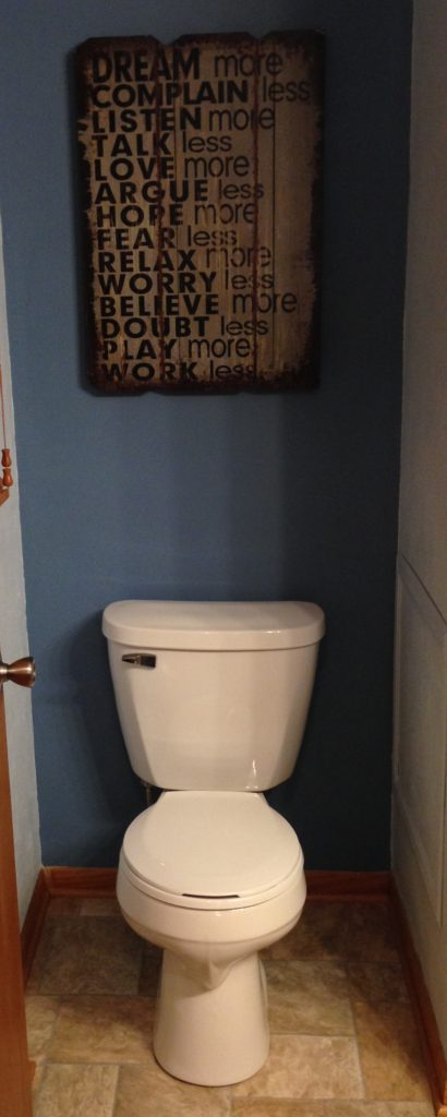 After Picture of Bathroom Renovation with New Toilet