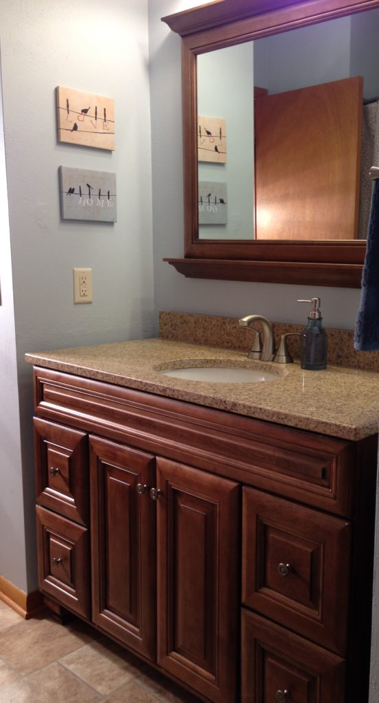 After Picture of Bathroom Vanity Renovation