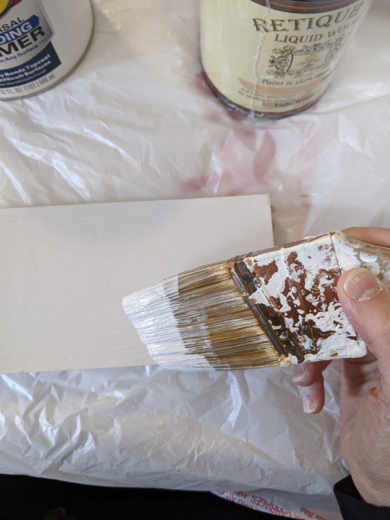 Painting boards wtih chalk paint