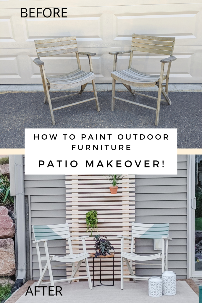Before and After Picture of Outdoor Furniture as Part of my Patio Makeover