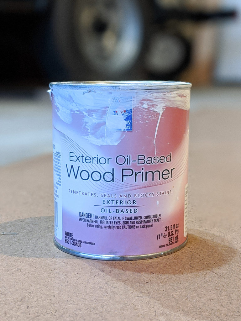 Sherwin-Williams Exterior Oil-Based Wood Primer for Outdoor Chairs