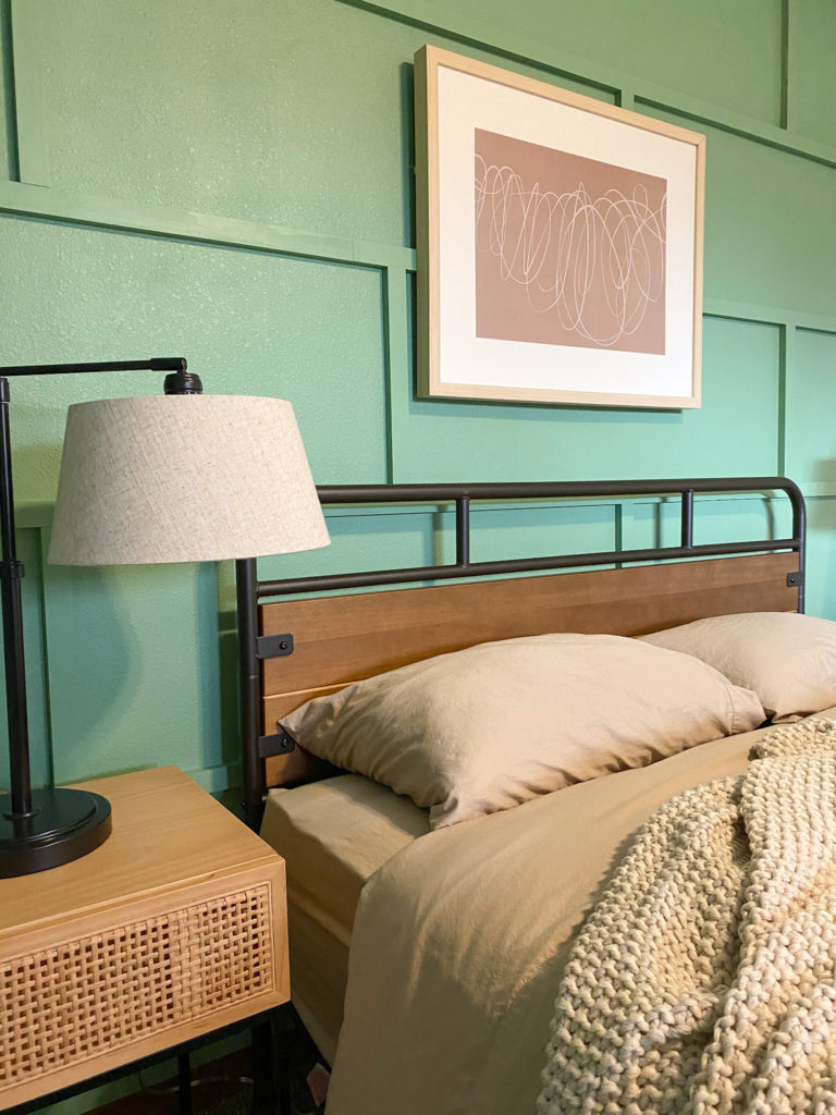Modern budget-friendly guest bedroom with Boll & Branch sheets