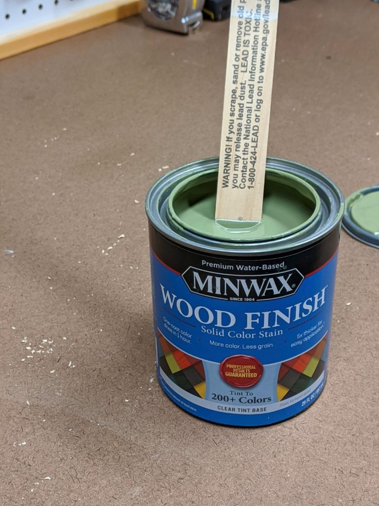 Minwax Solid Color Stain in Gentle Olive