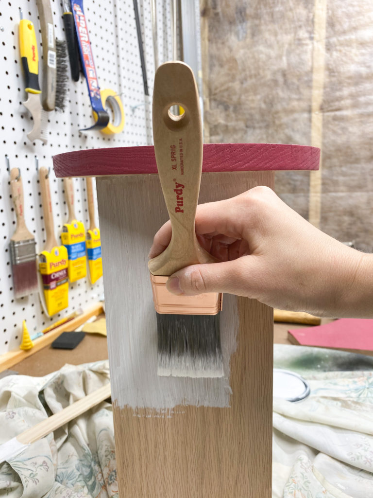 Applying Minwax Water Based Semi-Transparent Color Stain with Purdy Brush
