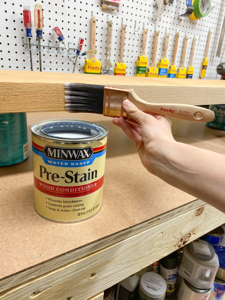 Applying pre-stain wood conditioner to fix blotchy stain