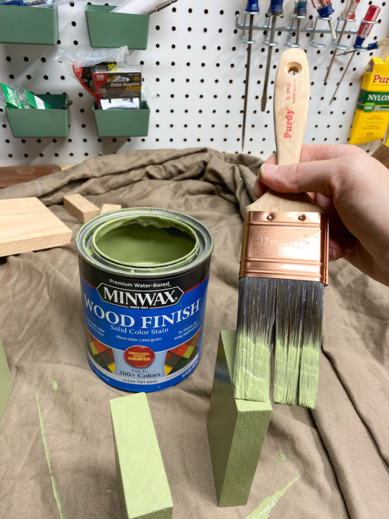 Applying Minwax Solid Color Stain to Wood