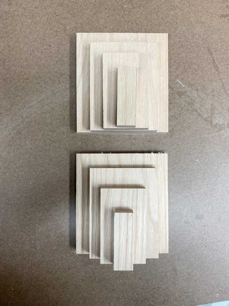 Cut Wood for Modern Bookends