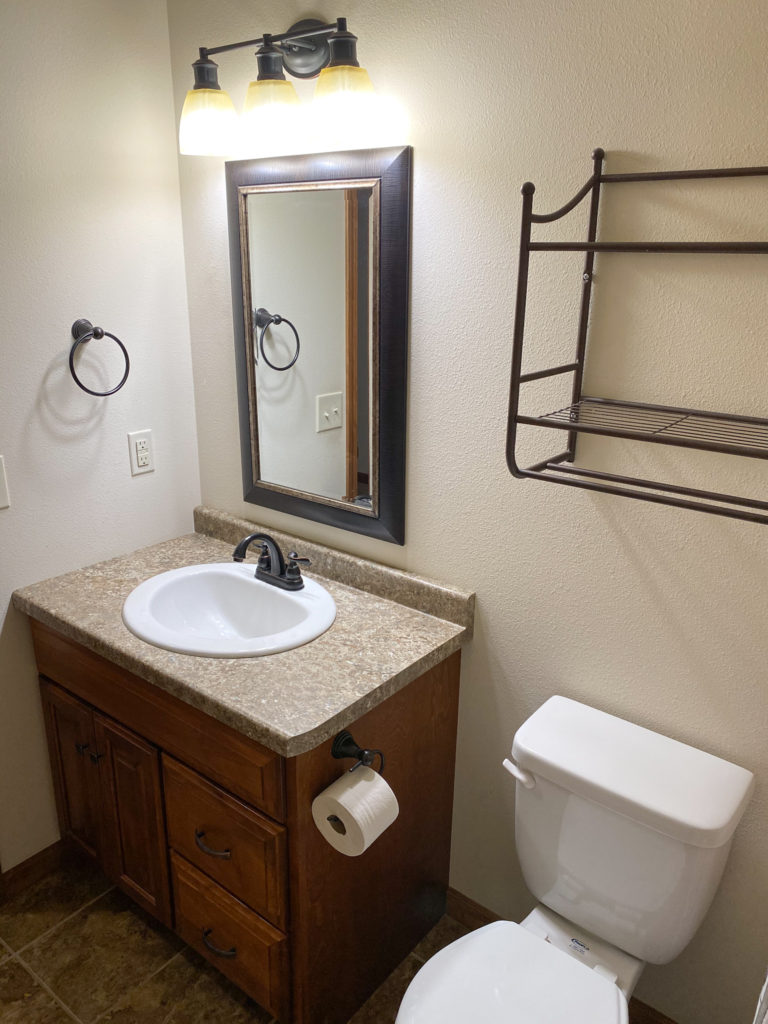 Before of Builder Grade Bathroom to be Remodeled