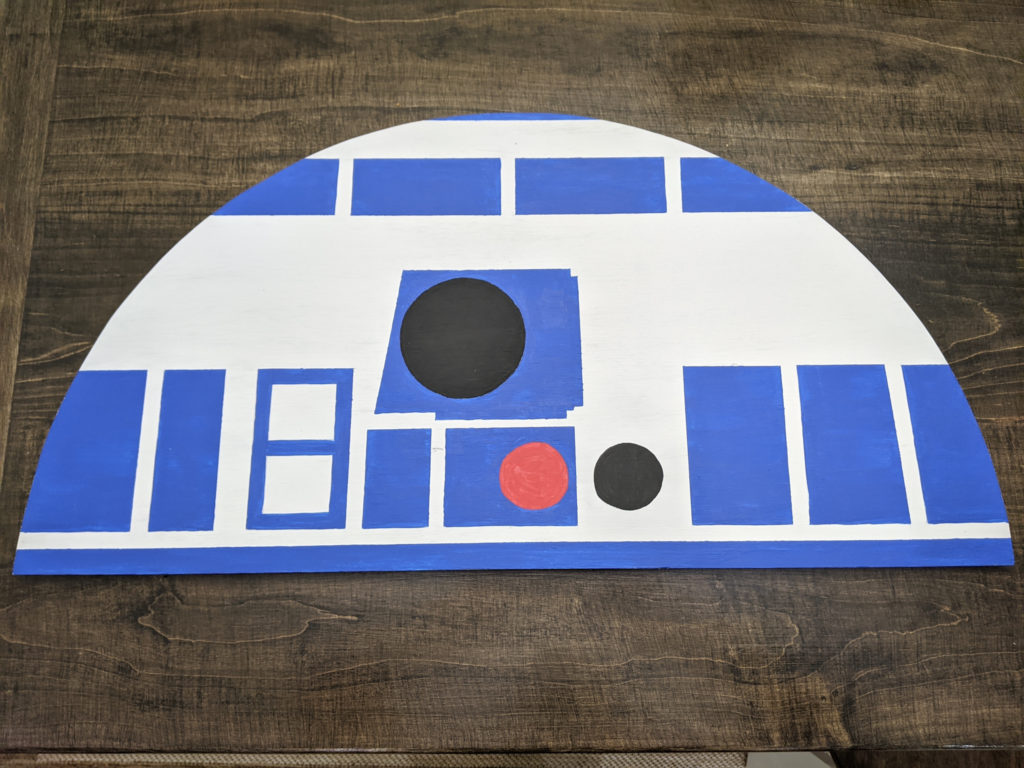 R2-D2's Plywood Head for the Dresser