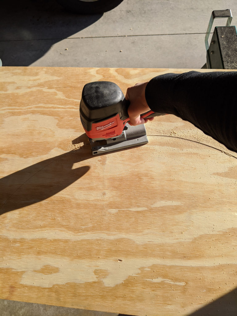 Cutting R2-D2's Head out of Plywood with a Jigsaw