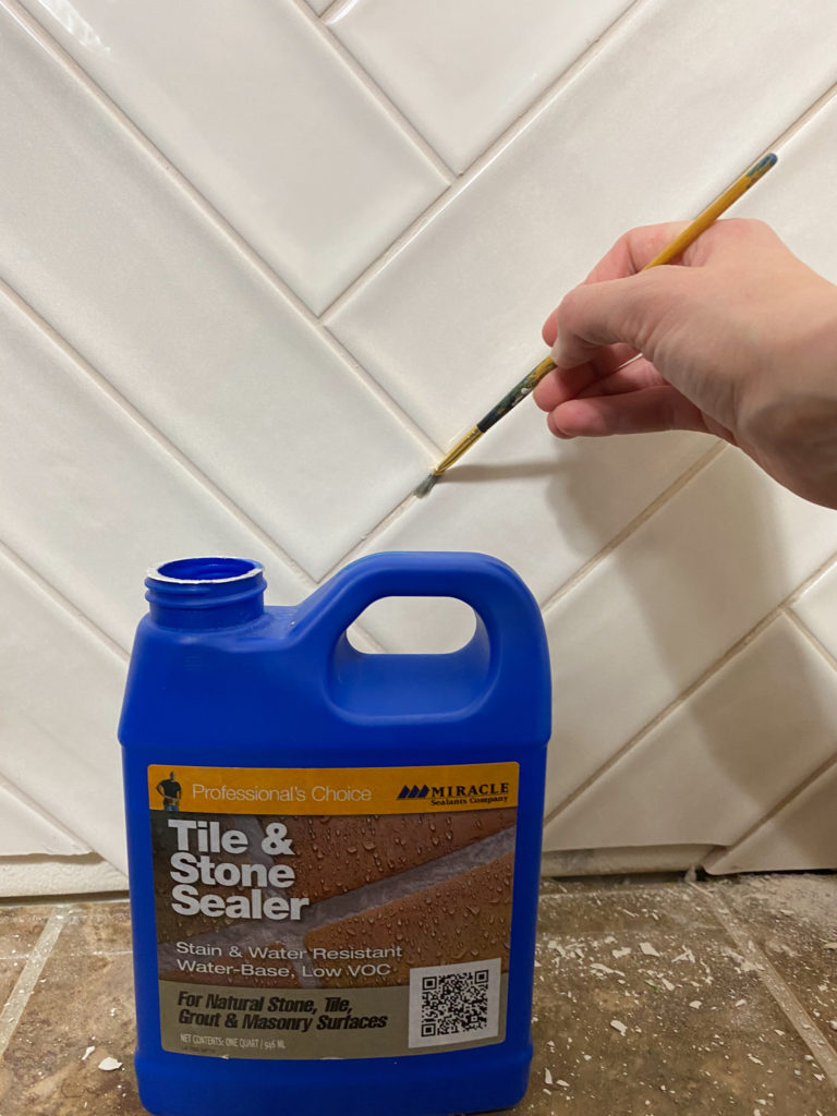 Sealing tile with tile and stone sealer
