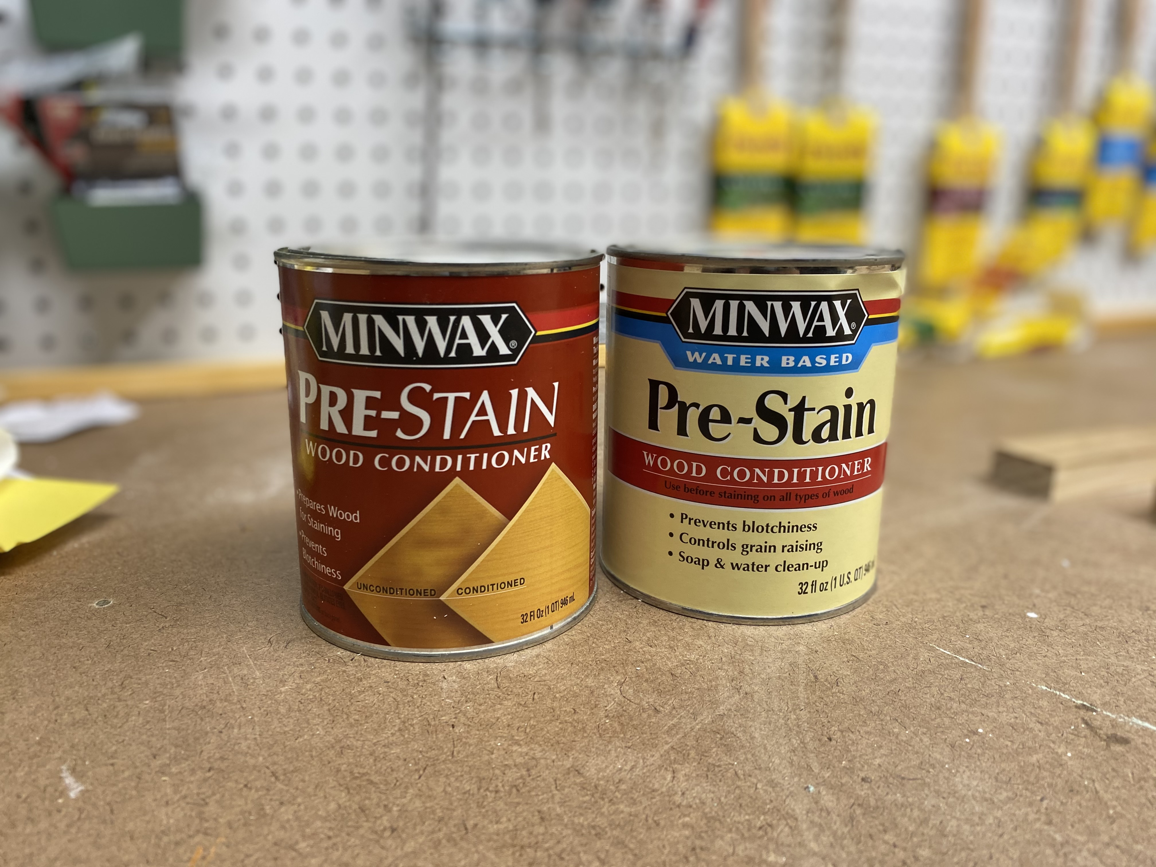 Pre-stain wood conditioner in oil based and water based