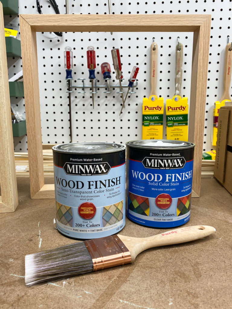 Minwax Color Stain in Gentle Olive and Pure White