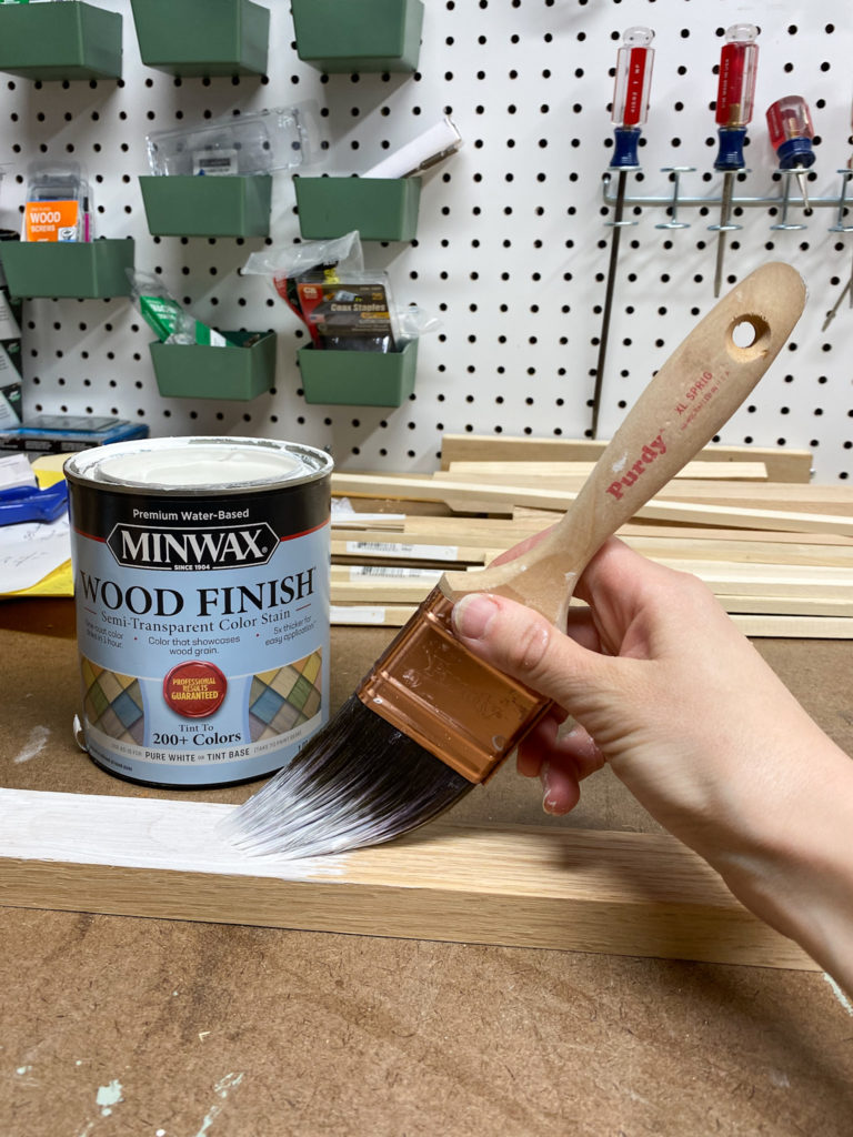 Applying Minwax Color Stain in Semi-Transparent Pure White