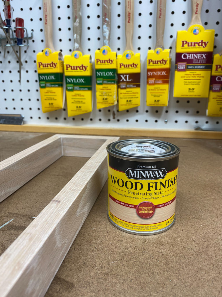 Applying Minwax Oil Based Wood Finish in Simply White