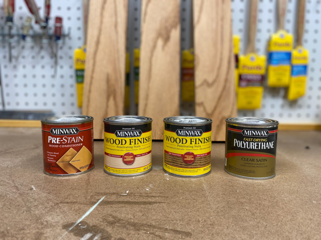 Minwax products to use when staining wood using oil based products