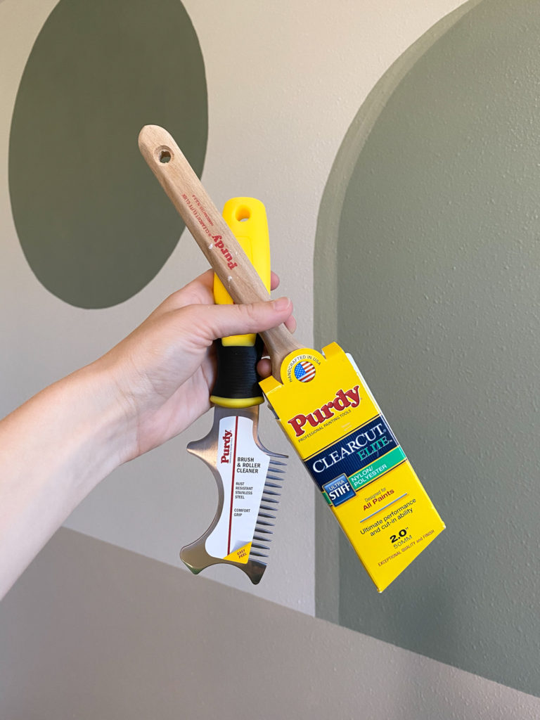 Purdy tools for how to paint a perfect circle
