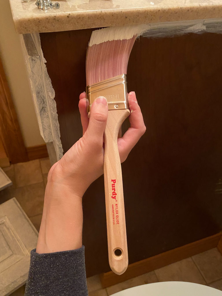 Priming Cabinets with a Purdy Nylox Brush for a Perfectly Smooth Finish